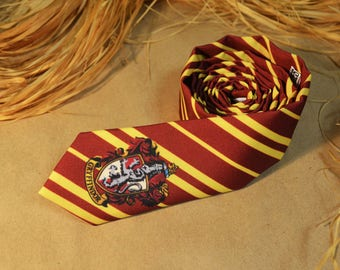 Harry Potter Necktie - Gryffindor Tie - Geek Gift - Harry Potter Themed Accessory