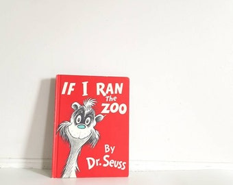 Vintage Dr. Seuss Book, If I Ran The Zoo