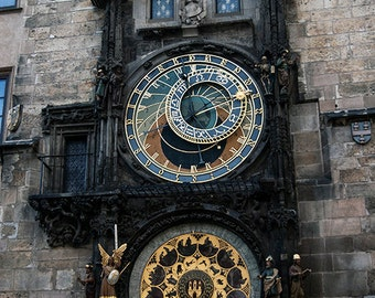 Prague Astronomical Clock Prague Orloj Medieval Circa 1410 Czech Republic Signed Photo Surreal Dark Jewel Tones Art by LadyAlchemy13