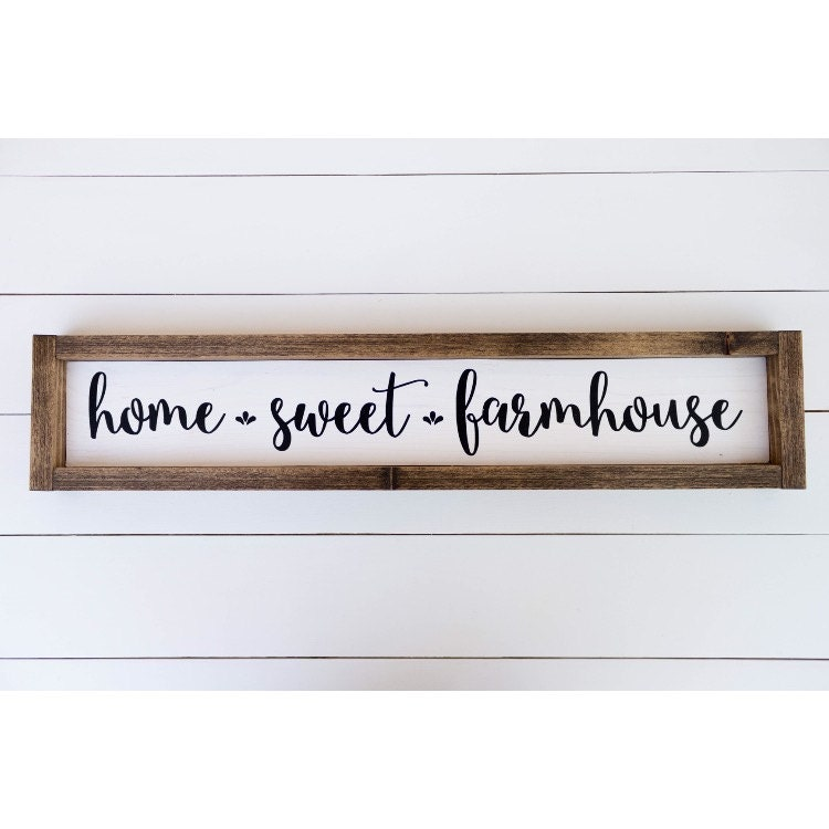 Home sweet farmhouse sign // home sweet home // farmhouse wood
