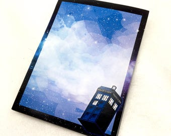 Doctor Who TARDIS large notepad memo pad paper