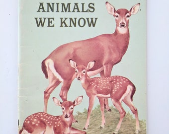 Animals We Know, Basic Science Education Series, Vintage Science Book, Nature Based Learning, Homeschool Science Book, Charlotte Mason