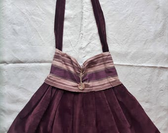 Handmade velvet bag - Unique Piece