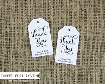 Thank You Tag - Custom Thank You Tags - Party Favor Tags - Bridal Shower Tags - Product Thank You Tags - LARGE