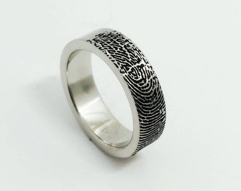 Fingerprint ring Etsy