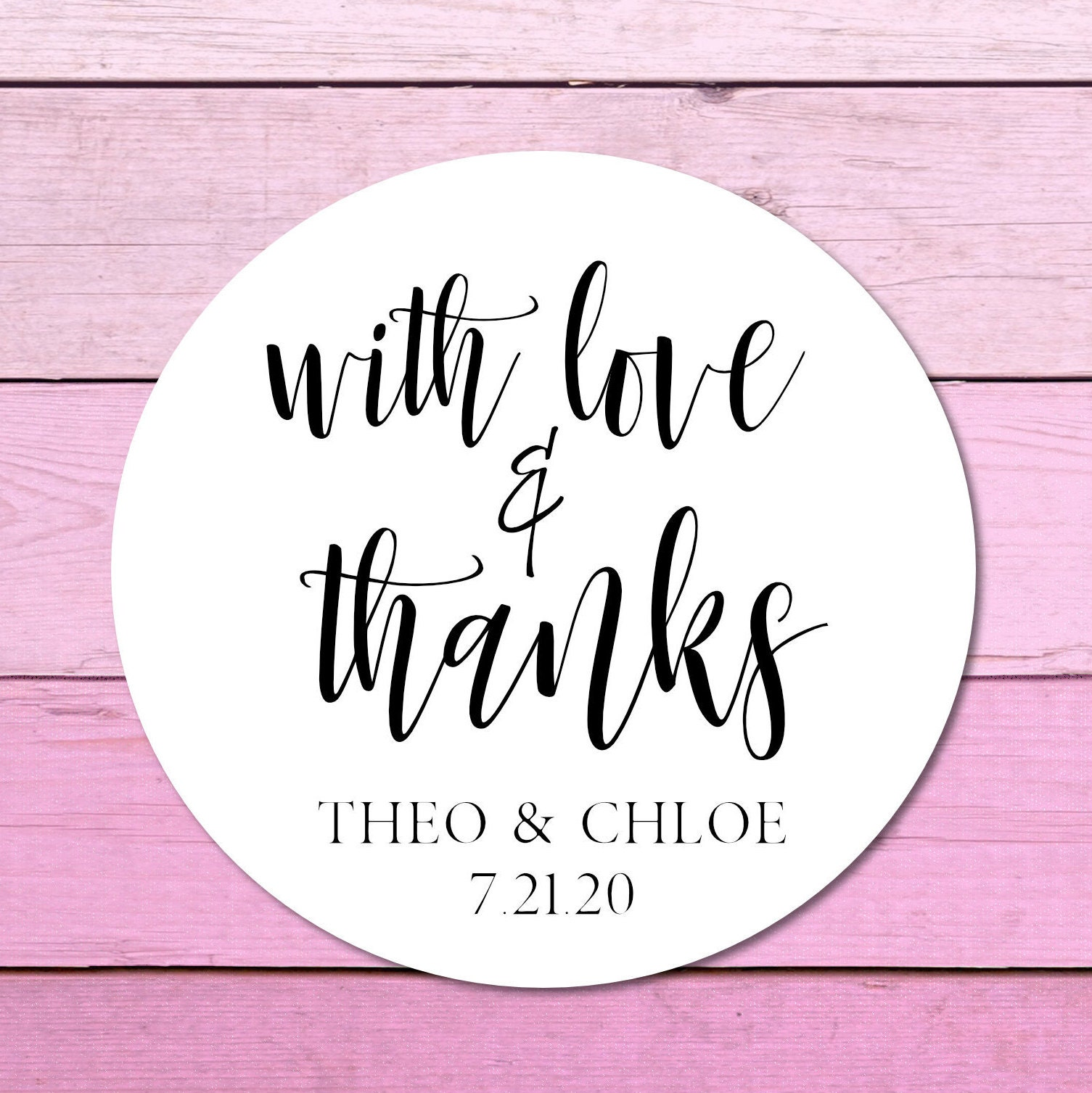 Thank You Wedding Stickers Thank You Stickers Personalized