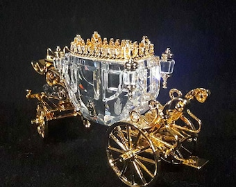 RARE! Swarovski Crystal Memories Journeys Carriage 220496 COA!