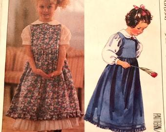 Iconic Laura Ashley Children's Dress, Petticoat and Blouse Pattern---McCalls 4434---Sizes 2-3-4  UNCUT