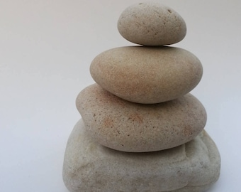 4 Natural Beach Stone Stack -Beautiful Sea Stones -Zen Stones -Beach Stone -Stack Large Stones -Zen Decor, Black Friday Deals, Black Friday