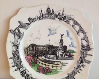 Vintage A J Wilkinson Burslem Buckingham Palace Plate