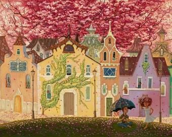 """Spring Blossoms - giclée print, 12"""" x 16"""" (30.5cm x 40.5cm)"""