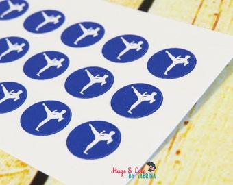 Karate Planner Sticker - round