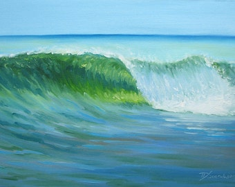 """GICLEE reproduction on 8 1/2 x 11"""" fine art PAPER - Curling Wave series 4 (wave, barrel, tube)"""