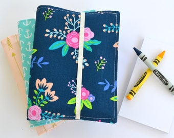 Birthday Party Favors, Crayon Wallets, Set of 15, 8 Crayons and Notepad Included, Art Party, Wedding Favors, Gift for Students