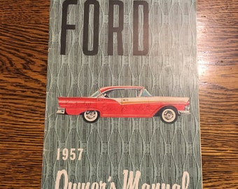 Owners manual etsy 1957 ford car owners manual publicscrutiny Images