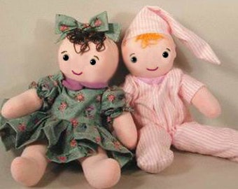 Simple Baby Doll PDF - Easy Doll Pattern - PDF download - cloth doll sewing