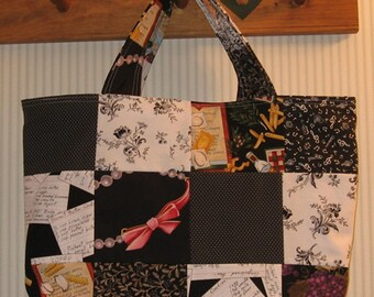 Night and Day Patchwork Crafter's Tote