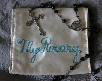 Vintage Satin Rosary Case