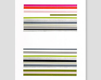 Letterpress Stripes Print (Version A)