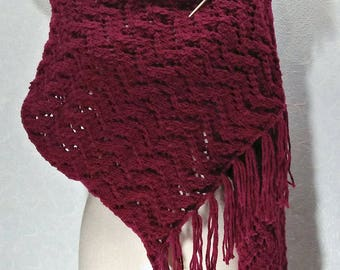Burgundy red Shawl