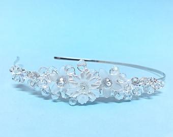 Wedding Headband, Bridal Crystal Headpiece, Wedding Hair Accessories, Bridal Hair Jewelry Hairpiece Headband, Crystal Floral Hairpiece