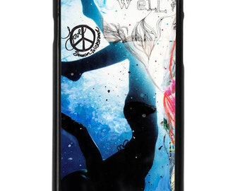 NEW iPhone 7/7+ Case, Live Well, Best Seller, Flowers, Ocean, Swim, Sea, Blue, Indigo, Tropical, Art, Avail with Black or White case color