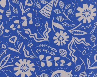 Fabric by the Yard- Yucatan Deep Sea Jungle