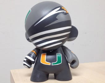 "7"" Miami Hurricanes Custom Hand Painted Munny by emKel"
