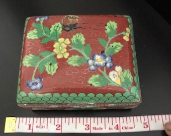 Antique Chinese Cloisonné and enamel box