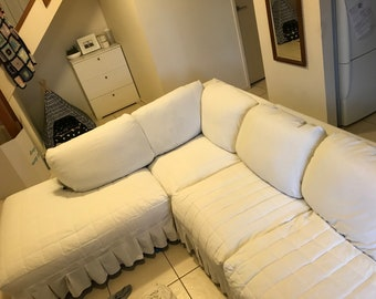 Custom made slipcovers for sofa