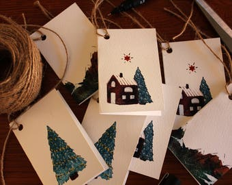 Christmas Gift Tags - Pack of 5 or 10