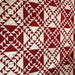 Quilt Red and White Flying Geese Queen