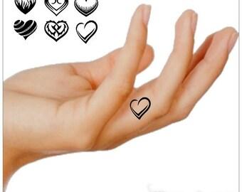 Temporary Tattoo Finger Hearts  Waterproof Ultra Thin Realistic Fake Tattoos