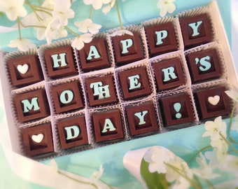 Happy Mother's Day Chocolates - Mother's Day Chocolates - Mother In-Law Gift - Gift for Mom - Chocolate Mother's Day Gift - Mum Gift