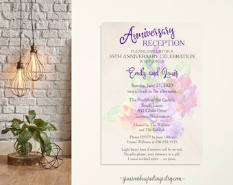 Anniversary Reception Party Invitation, Vow Renewal Invitation, Eloped Post Party, Post Wedding Invitation, Wedding Anniversary Invite