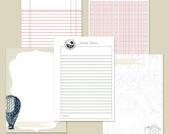 "5x7"" Planner Inserts Filofax Inserts Travel Set 1 Printable INSTANT DOWNLOAD"