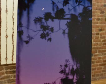 Purple Moonrise Wall Art