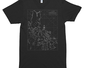 Philippines Map Men's T-Shirt/Filipino T-Shirt, Pinoy T-Shirt/A Chart of the Channel in the Phillippine Islands