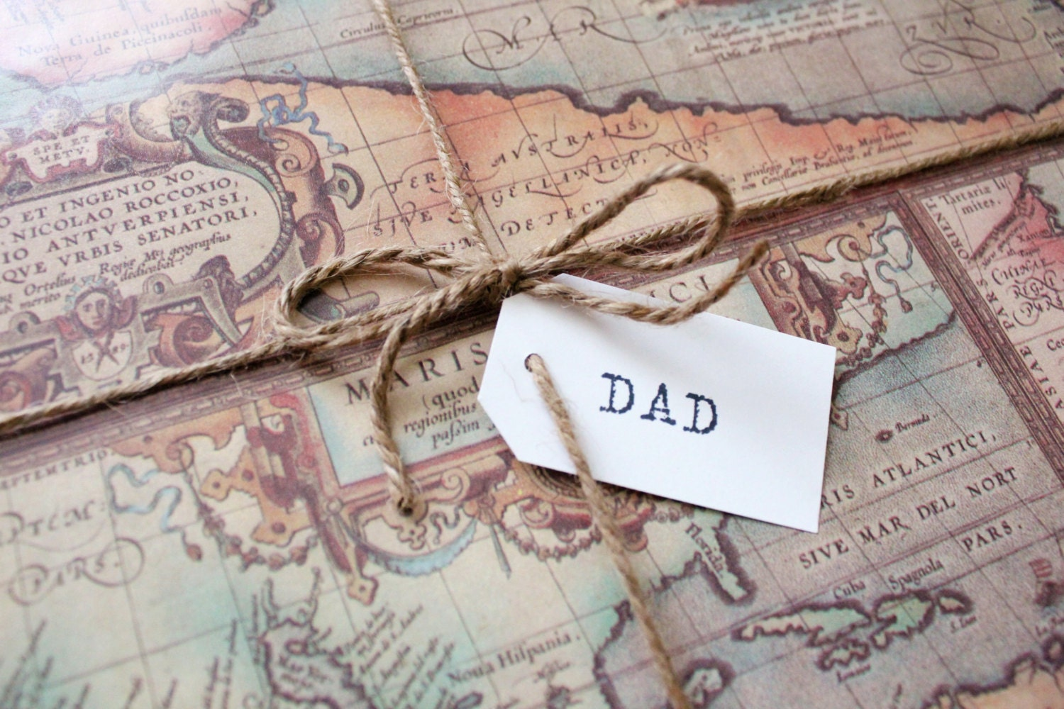 Top Old World Map Wrapping Paper 2X10 ft - Masculine Gifts, Travel  LV39