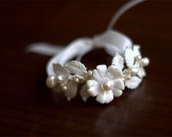 Bridal bridesmaid cuff bracelet made to order ROWAN bridesmaid gift flower girl