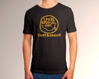 "Nirvana Inspired ""Stupid and Contagious"" Men's T-Shirt"