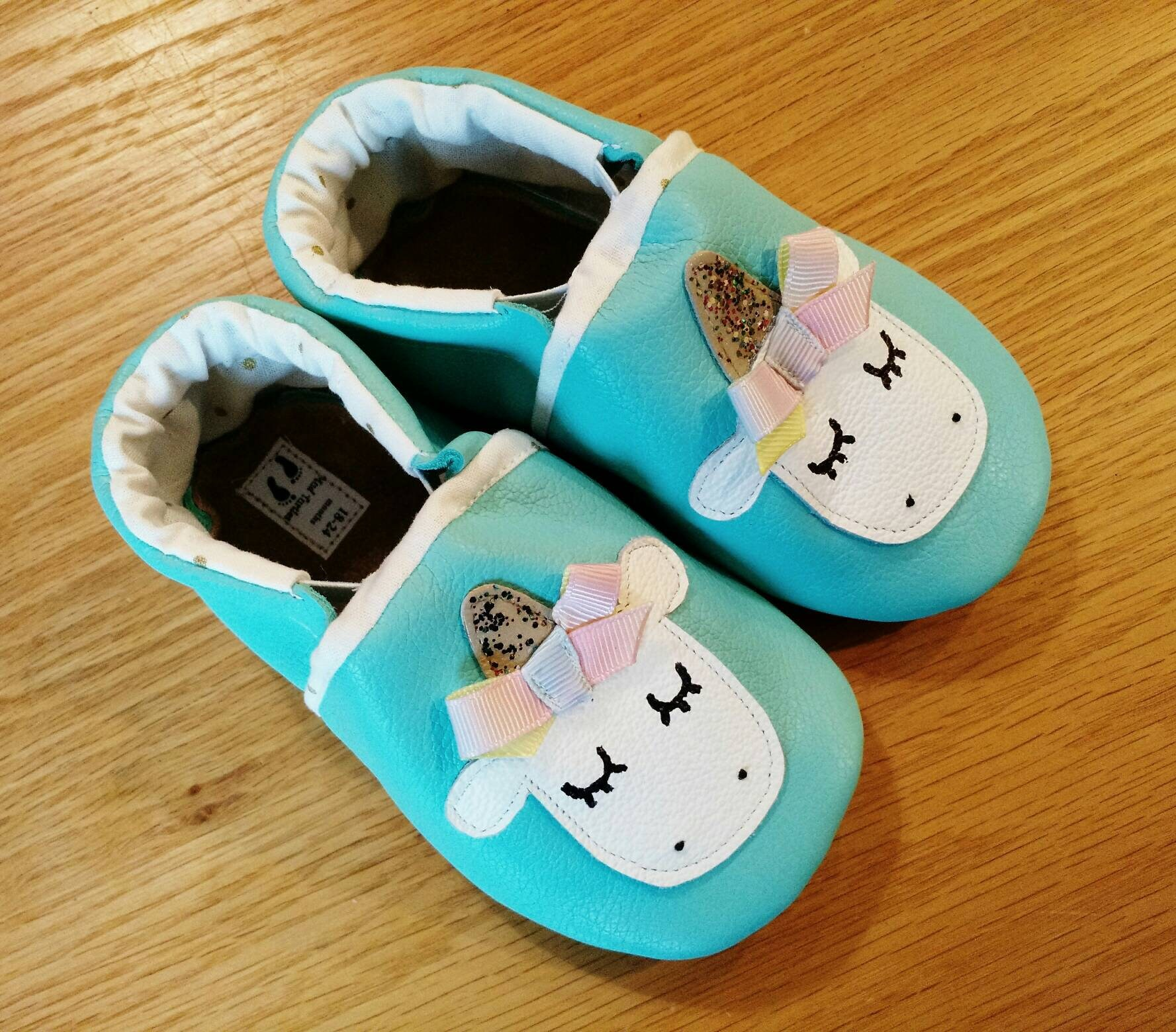 Unicorn baby girl shoes size 6 18 24 months