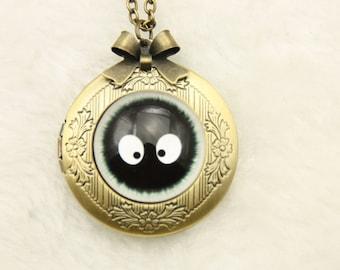 Totoro Necklace, sootball Necklace, totoro locket l 2020m