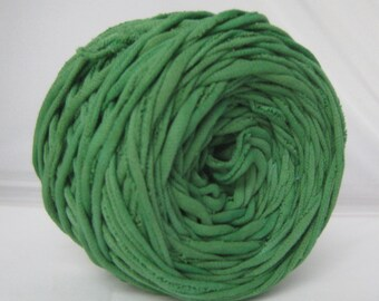 T-Shirt Yarn, Tshirt Yarn, Hand Dyed, Kelly Green, 60 yards, T shirt Yarn, Green Yarn