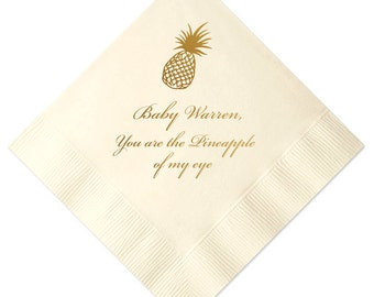 Personalized Pineapple Baby Shower Napkins (1011)