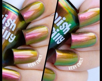 Mega Multichrome (Rebel)  Multi-Color Shifting Polish:  Custom-Blended Glitter Nail Polish / Indie Lacquer / Polish Me Silly