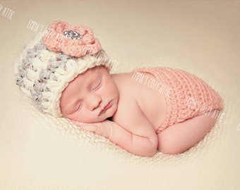 Baby girl clothes, newborn photo prop, baby girl coming home outfit, infant girl, baby girl, baby girl hat, newborn photo outfit
