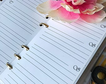 Agenda inserts/Weekly agenda Inserts/Personal Size/Pocket size/Undated inserts/Planner inserts