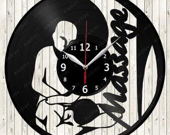 Massage Vinyl Clock Handmade Art Decor Your Room Original Gift 1732