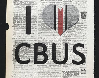 I <3 CBUS - Ohio State Football - Dictionary Print **FREE SHIPPING** Buckeye Football, Go Bucks, Scarlet and Grey